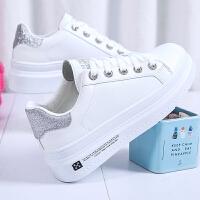小白鞋女童秋季2019新款韩版百搭初中小学生板鞋大童白色运动球鞋