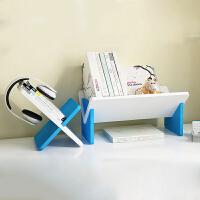 御目 书架 创意新型桌上置物收纳架现代简易异形木塑板组装整理储物架子家具用品