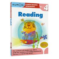 【首页抢券300-100】Kumon Reading Workbooks G4 公文式教育英文原版图书 小学四年级英语阅