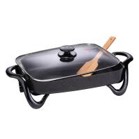 家用电煎烤锅 多功能电炒锅热锅商用用电火锅7L烧烤不粘锅