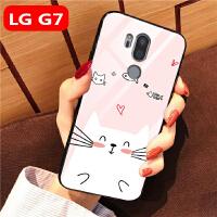 20190724063231149LG G7手机壳玻璃女款可爱卡通全包边lg g7thinq保护套软硅胶LG G710