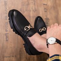 品牌增高鞋男10韩版潮流百搭英伦休闲透气男鞋隐形内增高皮鞋男85