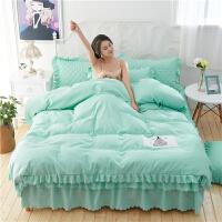 床上四件套磨毛全棉纯棉欧式简约1.8m床公主风荷叶边淑女屋韩版