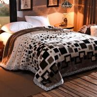 毛毯被子加厚双层秋冬季学生宿舍盖毯单双人珊瑚绒毯 200cmx230cm 【重10斤】