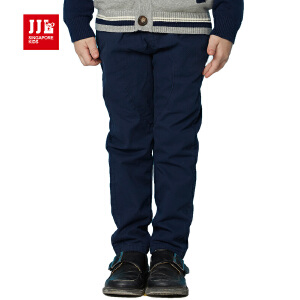 jjlkids季季乐男童长裤春装新款休闲裤子儿童纯色纯棉裤子男布裤BCK63057