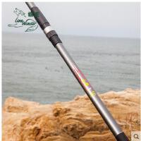 海竿碳素超硬长节抛竿远投竿套装鱼竿垂钓 狼王金狼3.6 3.9 4.2米