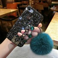 毛球苹果7plus手机壳新款女iPhone6s保护套欧美奢华6个性钻防摔潮