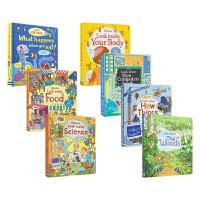 Usborne Look Inside 看里面揭秘系列 低幼版7册套装 纸板翻翻书 5-7岁 儿童科普 英语学习 课外读