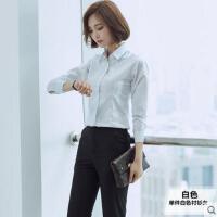 新款长袖职业装 女装套装长裤黑色衬衫套裤工作服职业套装两件 可礼品卡支付