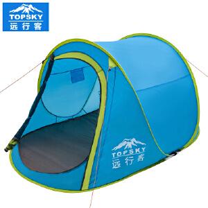 【199元两件】Topsky/远行客户外探险双人单层手抛速开自动帐篷野营帐篷船帐小屋