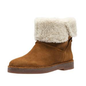【香港现货】Clarks/其乐女鞋2017秋冬新款时尚休闲雪地靴Drafty Haze专柜正品直邮