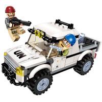 儿童拼插积木玩具6-7-15岁雷霆使命男孩拼装军事坦克战车