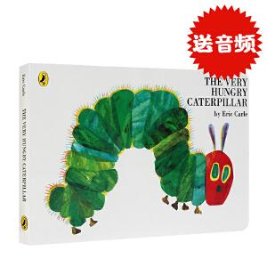 英文原版绘本 The Very Hungry Caterpillar Eric Carle 纸板书 饥饿的毛毛虫/好饿的毛毛虫 卡尔爷爷 廖彩杏书单儿童英文绘本吴敏兰