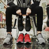 夏季户外防滑运动鞋子男潮牌百搭跑鞋飞织网面波鞋夏天透气大码男鞋子休闲原宿风鞋男