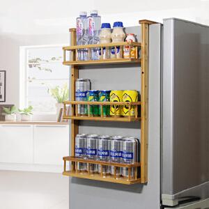 置物架 冰箱挂架侧壁挂架楠竹厨房架子厨房挂件调味架收纳架储物架满额减限时抢礼品卡创意家具