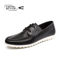 Camel Active/骆驼动感系带真皮男鞋轻便休闲鞋耐磨防滑软皮鞋