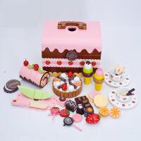 木制磁性儿童生日蛋糕组蛋糕水果切切乐女孩过家家益智玩具