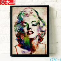 玛丽莲梦露海报切瓦拉涅��乐队挂画复古人物装饰画欧美抽象艺术画 43厘米*63厘米 白色实木>有框画 单幅价格,