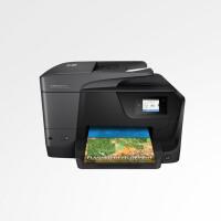 惠普HP 8710 彩色办公一体机 双面打印 无线wifi彩色喷墨升级8610打印复印扫描传真机