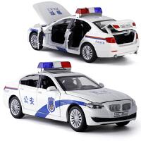 警车玩具小汽车模型仿真合金开门救护车玩具警察车儿童玩具车