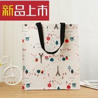 手提袋购物帆布收纳便携学生补习袋饭盒棉麻4美术书袋便当包