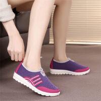 秋季老北京布鞋女鞋平底单鞋透气运动鞋防滑妈妈鞋休闲鞋厚底