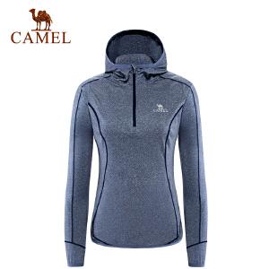 camel骆驼户外女款衣 透气时尚跑步卫衣