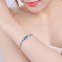 手镯子女 海洋之心手链情人节送女友礼物
