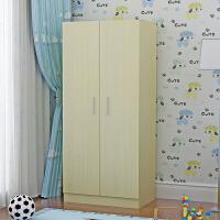 御目 衣柜 现代简易儿童卧室2门储物柜宝宝小衣橱木质柜客厅板式经济型柜子满额减限时抢礼品卡收纳柜