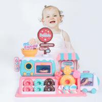 女孩仿真甜甜圈超市商店糖果购物车带语音儿童过家家厨房烤箱玩具 周岁生日圣诞节新年六一儿童节礼物