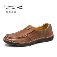 Camel Active/骆驼动感秋冬季新款男鞋青中年透气皮鞋套脚男鞋
