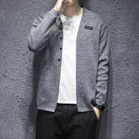 秋冬2017秋季青少年毛衣修身型V领韩版开衫长袖休闲男士针织衫