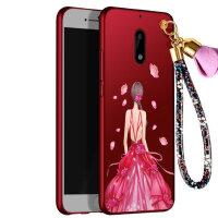 诺基亚6手机壳 Nokia6保护套 诺基亚6 手机壳套 保护壳套 个性挂绳全包硅胶防摔彩绘软潮壳女神款