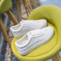 春秋新款鞋子女学生韩版小白鞋女百搭运动鞋PU皮平底板鞋休闲鞋