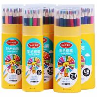 掌握71901彩铅套装 塑料筒装涂色笔 填色笔 初学生彩色美术笔