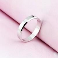 925纯银情侣戒指一对开口对戒韩版创意光面活口指环