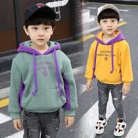 男童装冬装字母连帽儿童卫衣女宝宝小孩衣服