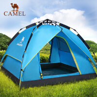 原装骆驼帐篷 户外3-4人自动全双层防雨 家庭野外露营帐篷 速开遮阳雨篷