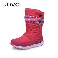 UOVO冬季新款儿童雪地靴女童靴子雪地儿童靴女童中筒靴小大童棉靴潮冬靴 幽鹤