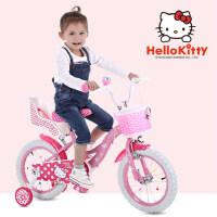 Hello kitty凯蒂猫儿童自行车玩具 12/14/16寸2-3-6岁女童宝宝脚踏车 KT猫小孩童车女孩单车