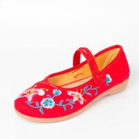 老北京布鞋女春夏季绣花鞋女民族风妈妈鞋古风平跟单鞋汉服跳舞鞋