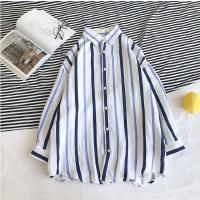 短袖衬衫新款夏款七分袖衬衣男学生宽松韩版学院风休闲上衣潮