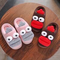 冬季儿童棉拖鞋男女童可爱卡通防滑居家保暖一家三口宝宝亲子鞋