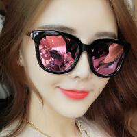 新款韩国复古潮太阳镜女个性眼睛墨镜圆脸偏光镜男明星眼镜