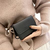 女士钱包2017新款韩版三折折叠小钱夹百搭个性圆环零钱夹小卡包