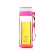 男女玻璃杯双层泡茶杯式办公杯带盖防漏便携随手杯