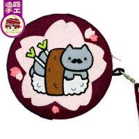 免裁剪素食猫咪手拎包零钱包迪鸥不织布手工制作布艺diy材料包