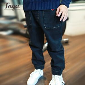 taga童装男童牛仔裤薄款收脚长裤子 春秋新款韩版潮裤男孩裤子