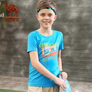 小骆驼童装男童女童圆领T恤 春夏季新款青少年中大童短袖体恤