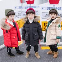 儿童外套中长款男童冬装宝宝棉袄小孩羽绒冬季